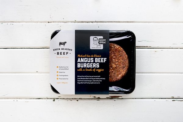 400g Angus Beef Burgers with a touch of veggies