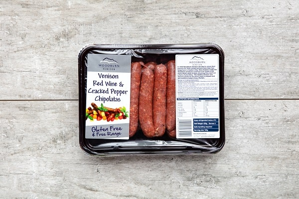 420g Venison Red Wine & Cracked Pepper Chipolatas (12-14 pack)